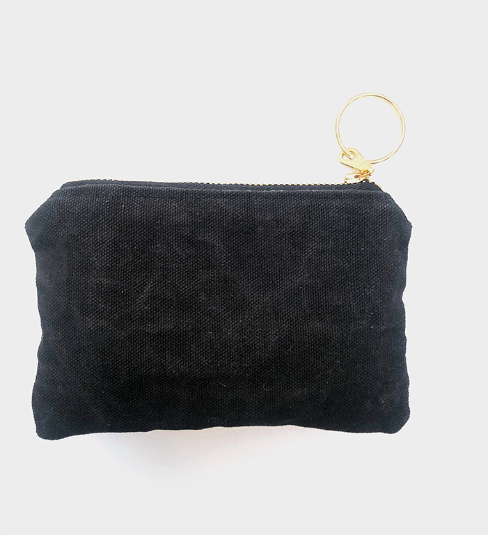 Piece Out Mini - Canvas and Leather Card Holder