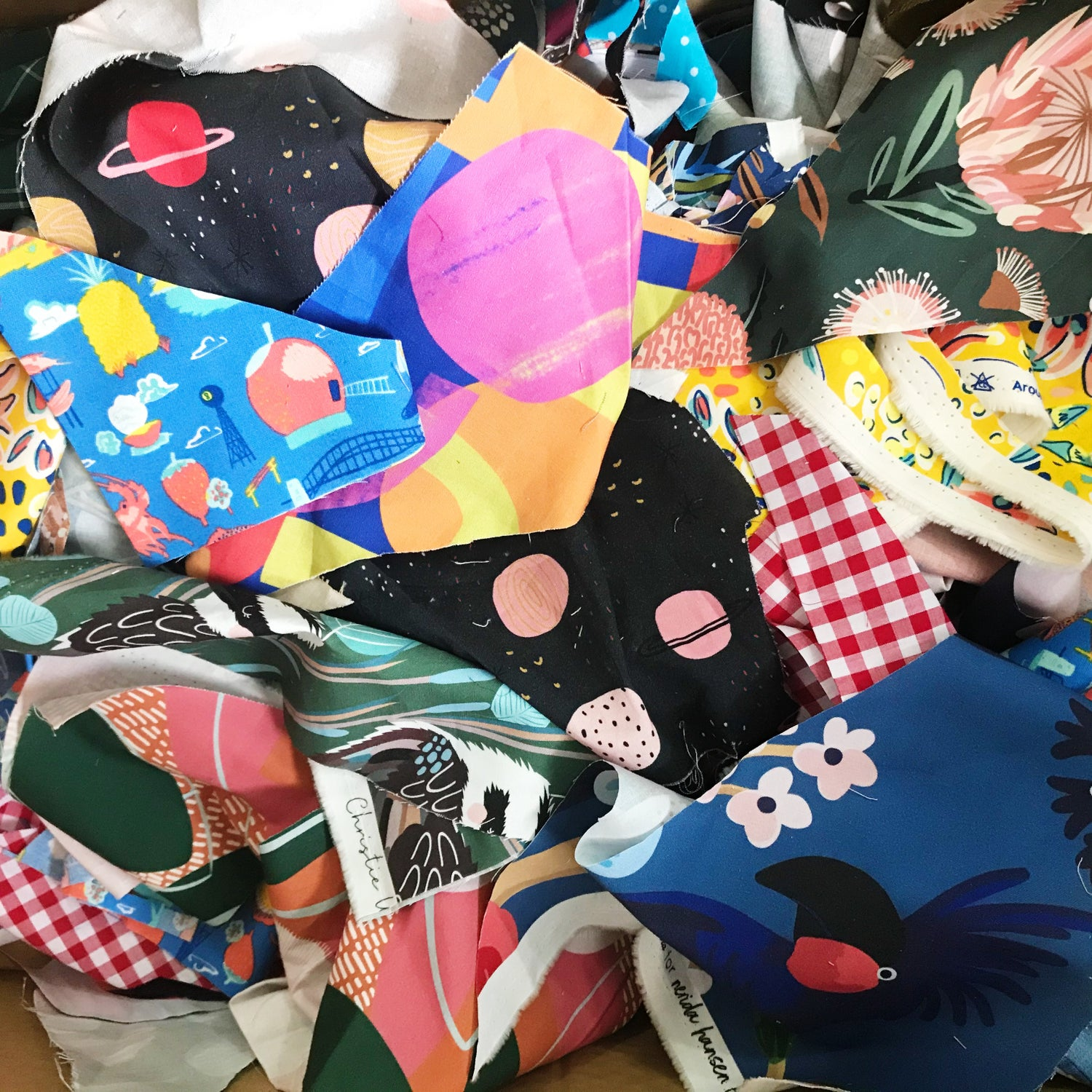 500gms Cotton Fabric Scraps with Free Postage