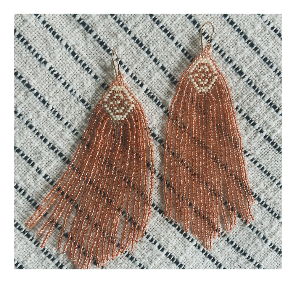 Image of Betsy Earrings in Glassy Peach