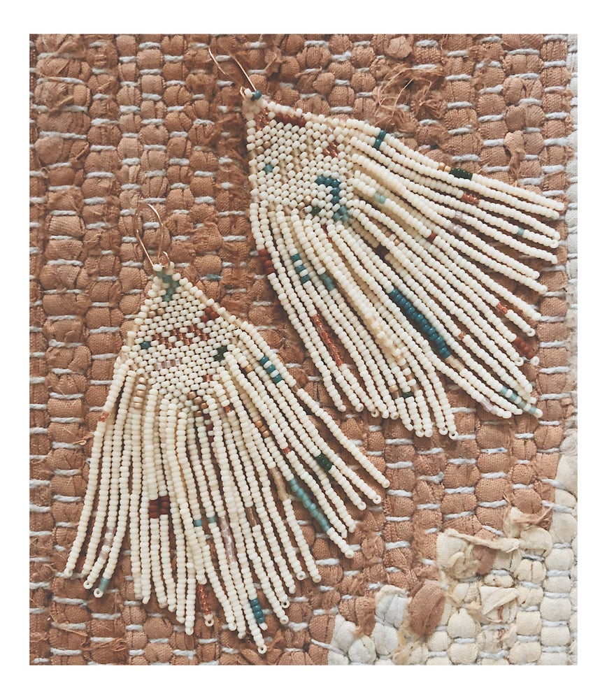 Image of Short Angelica Earrings in Neutral