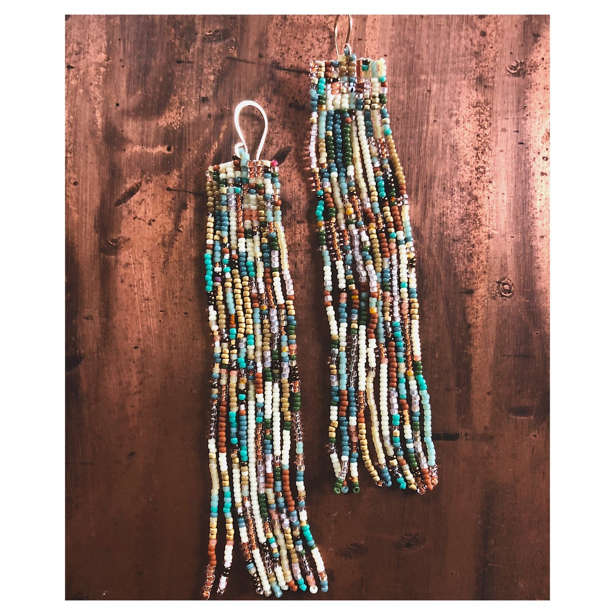 Image of Confetti Earrings in Earth Tones