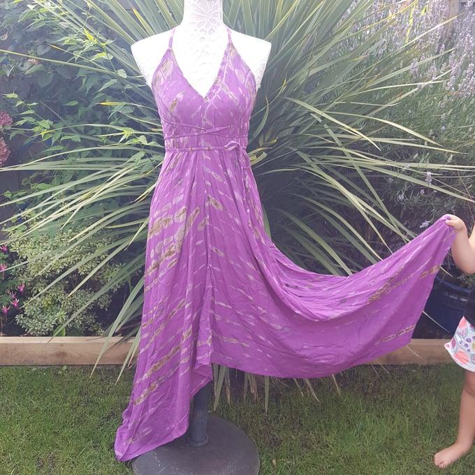 Image of Purple tie dye dress