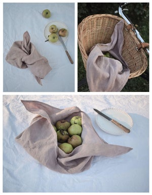 Image of Linen wrap bags in a set of two