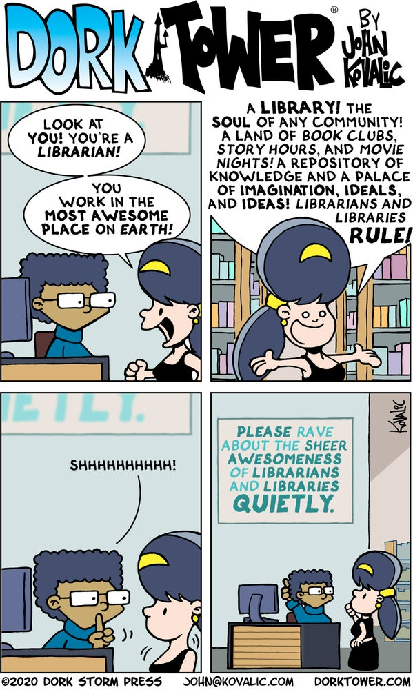 Image of Rave About Librarians and Libraries Strip Poster