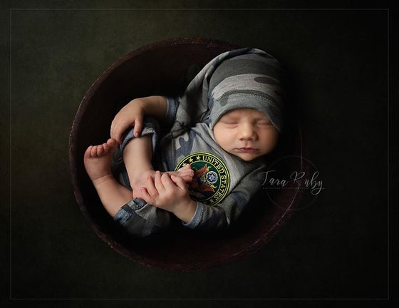 Image of Military Inspired Newborn