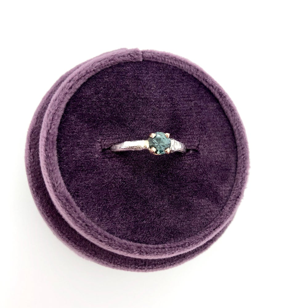 Image of Montana sapphire engagement ring