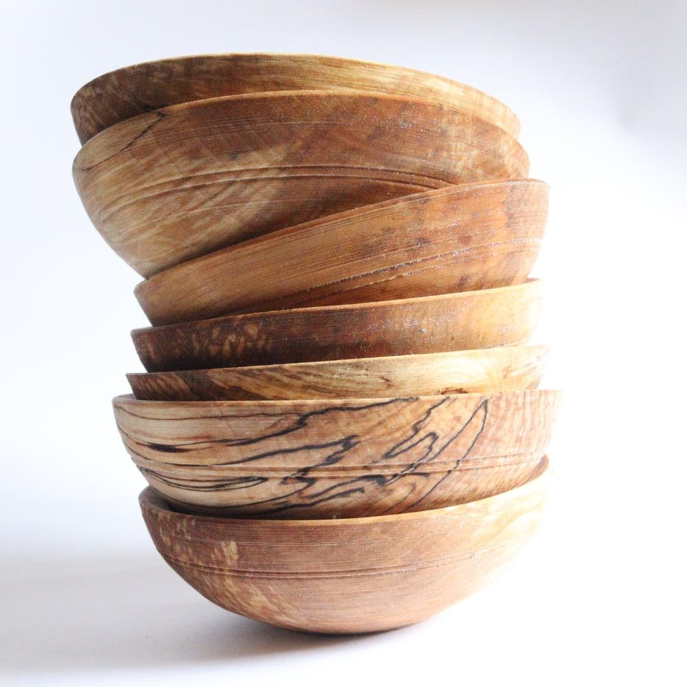 Pole Lathe Turned Cawl Bowl