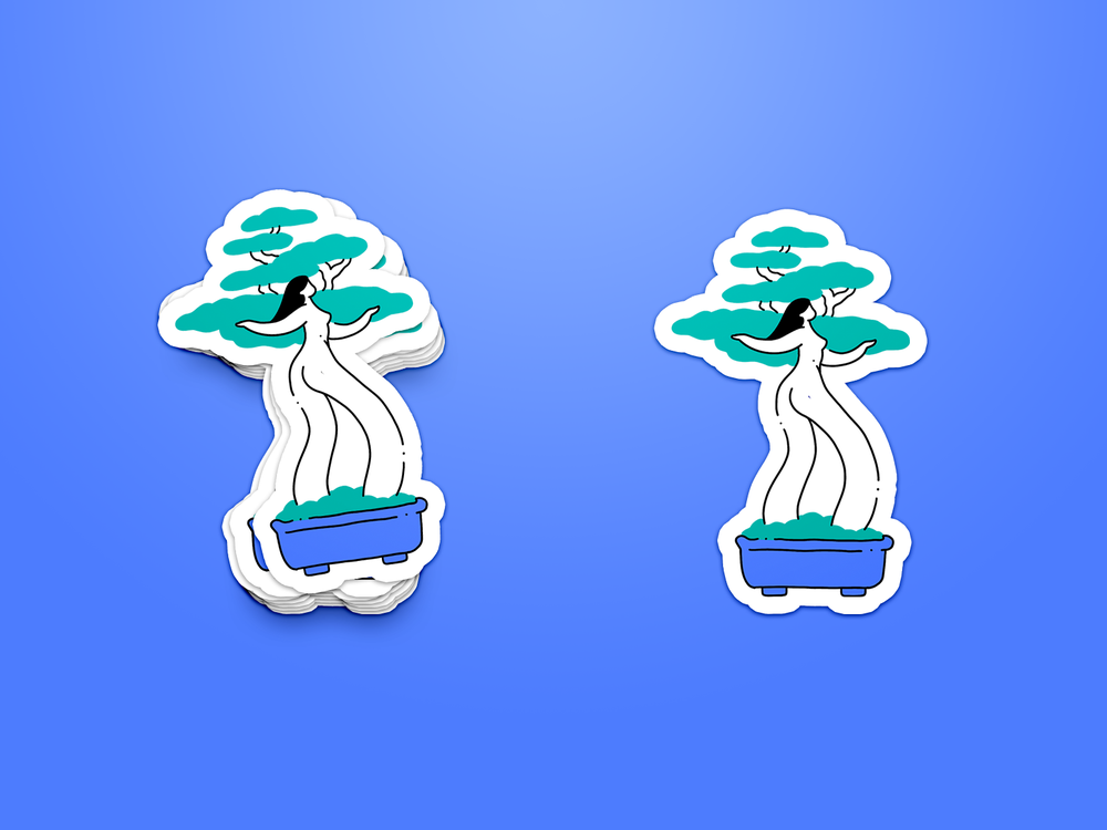 Image of Miss Bonsai sticker