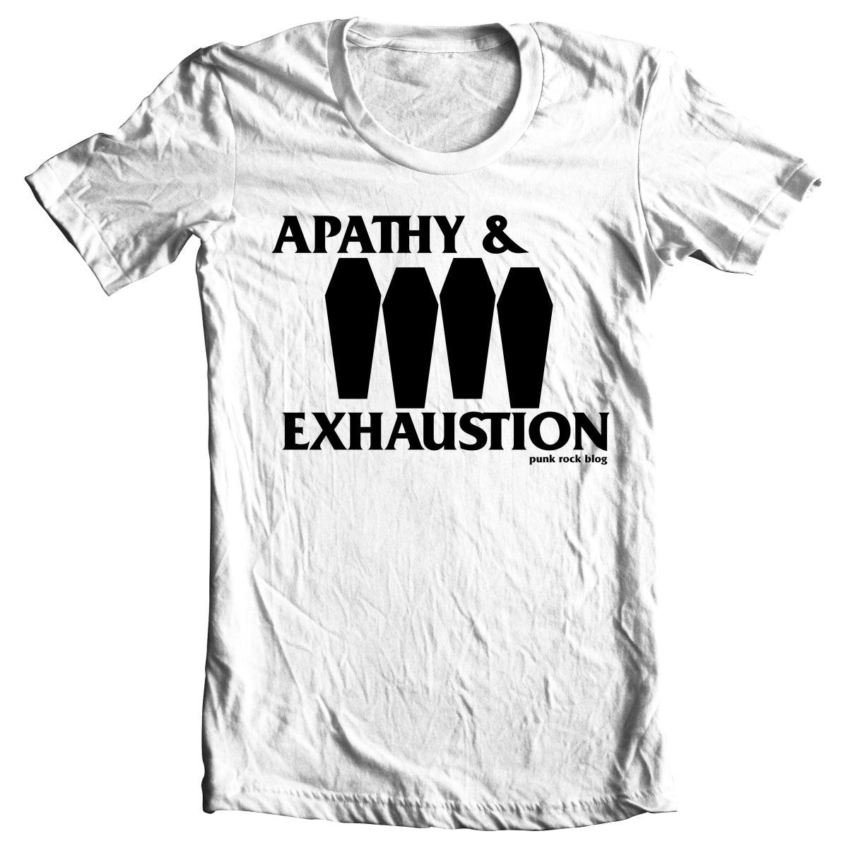 Image of PRE-ORDER: Apathy & Exhaustion - Coffin Flag T-shirt (White)
