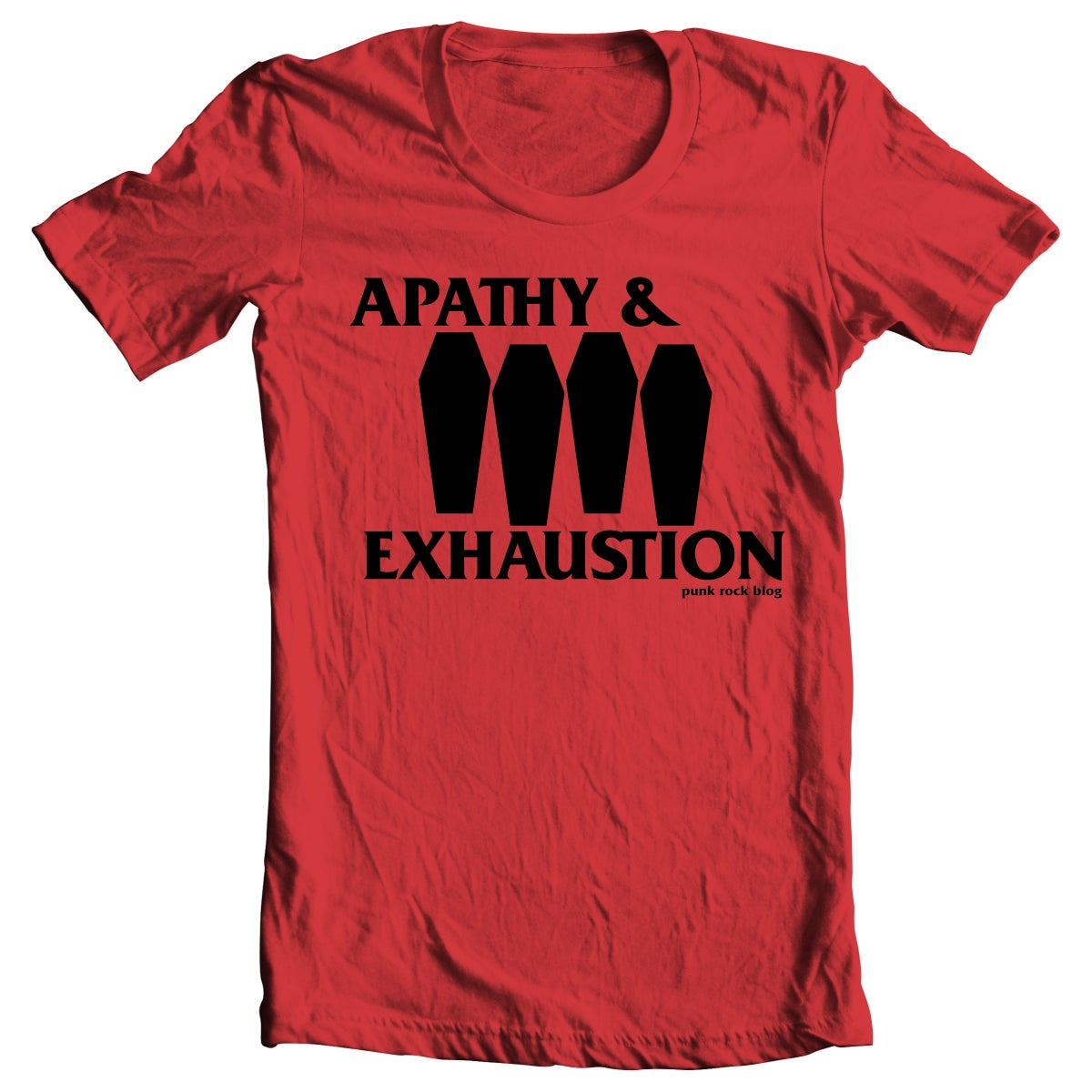 Image of PRE-ORDER: Apathy & Exhaustion - Coffin Flag T-shirt (Red)