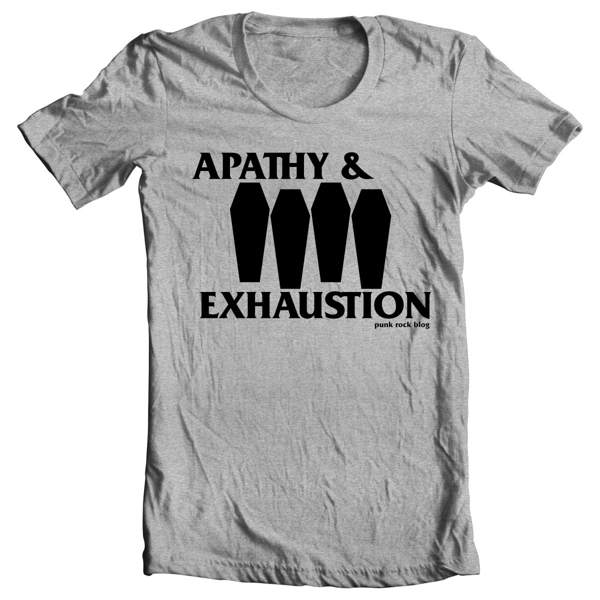 Image of PRE-ORDER: Apathy & Exhaustion - Coffin Flag T-shirt (heather grey)
