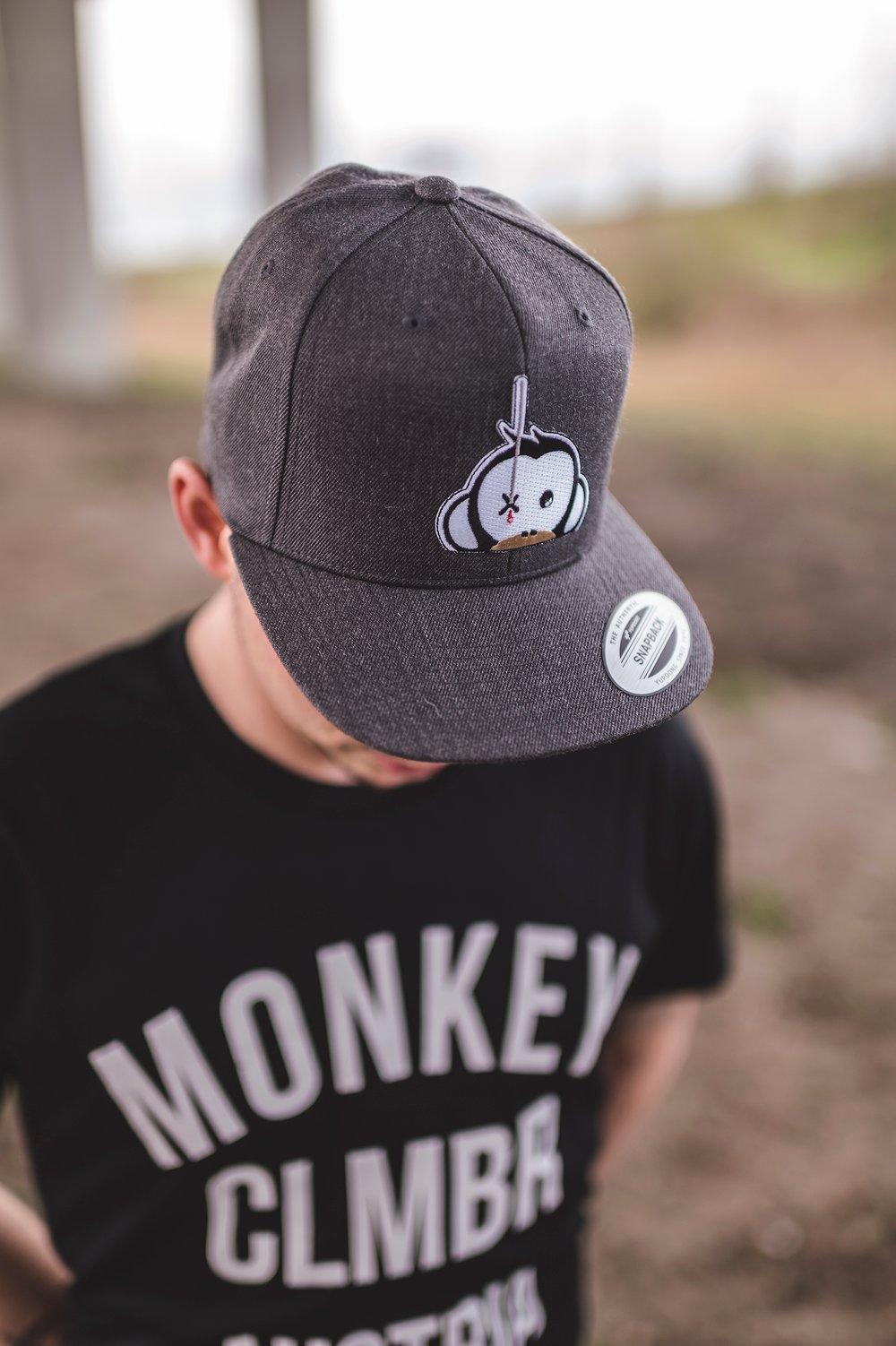 Image of Monkey Climber Logo Patch Snapback I Dark Grey