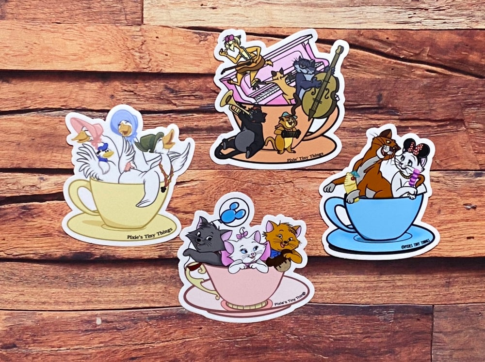 Characters in Teacups- Stickers