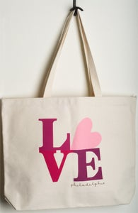 Image of Love Philadelphia tote (pink)