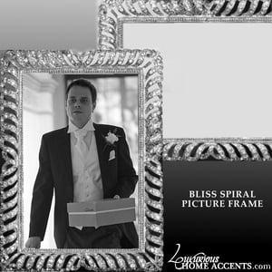 Image of Bliss Spiral Swarovski Crystal Picture Frame