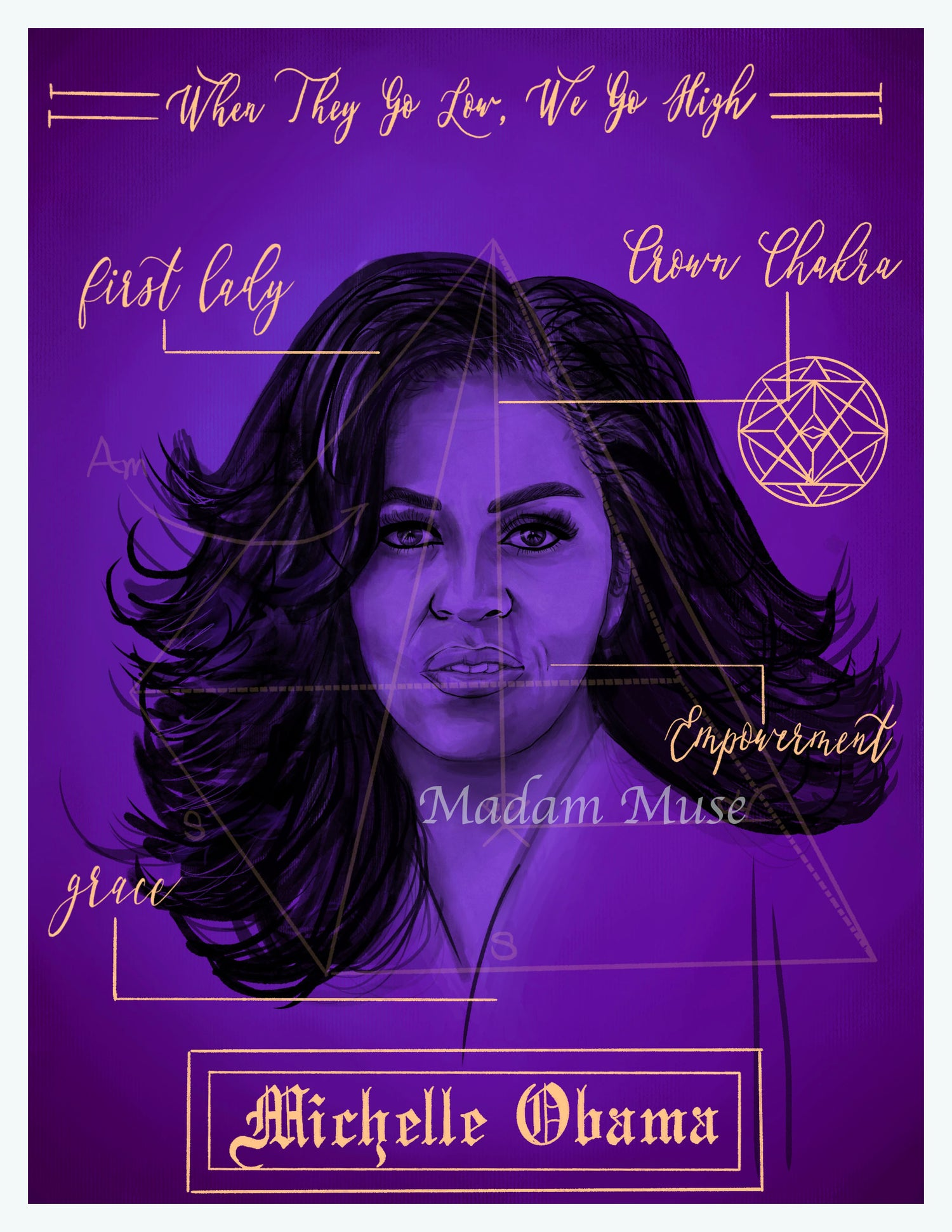 "Image of ""Michelle Obama"" Blueprint Series Limited Edition Prints"