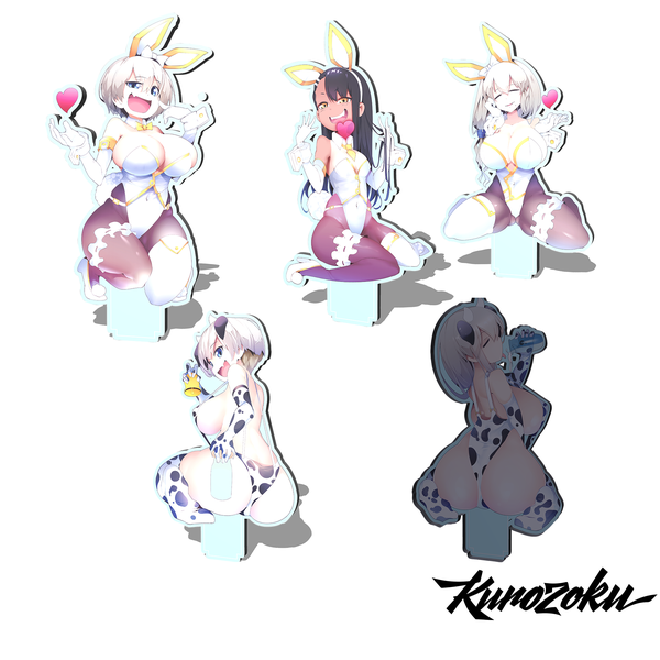 Image of Bunny/Cow Girls Standees! LIMITED