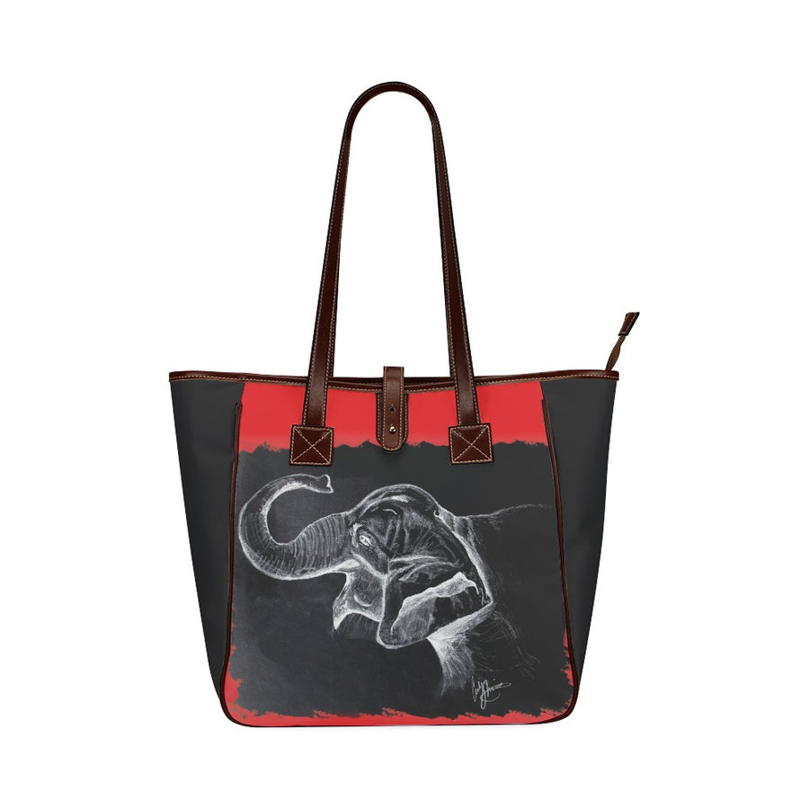 Image of Joyful Elephant Luxury Tote Bag