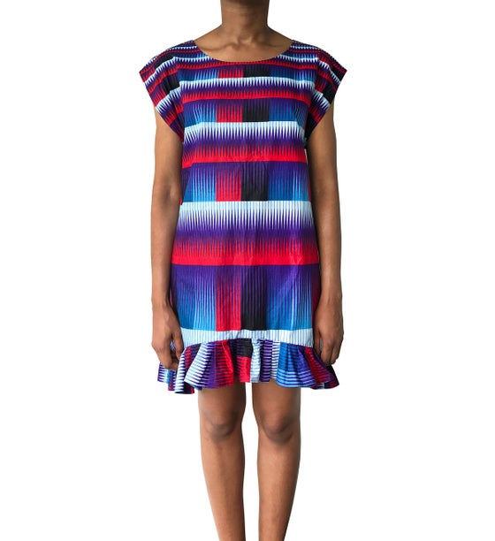 Image of Vlisco Afrofuturist Mini dress