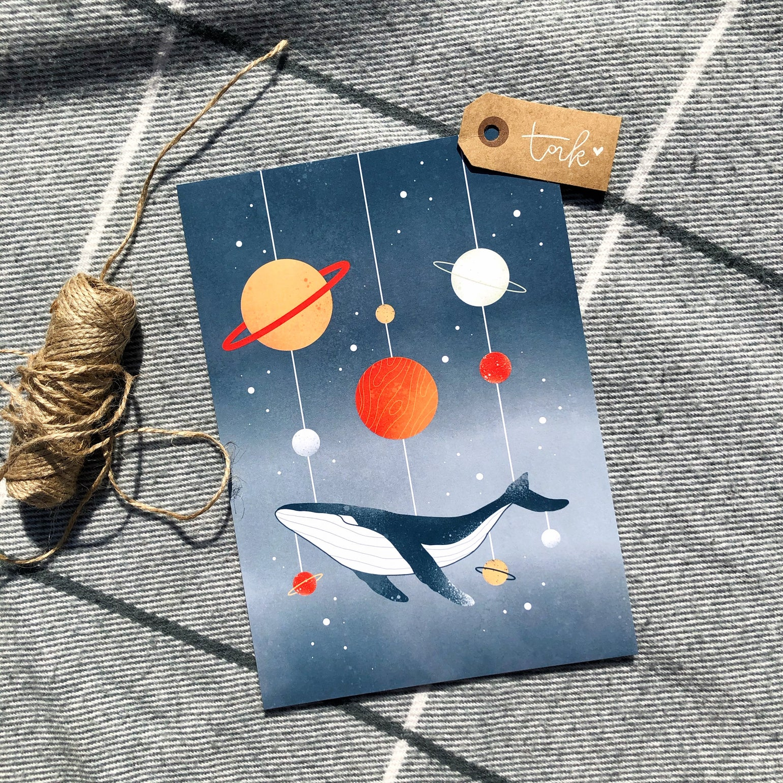 Image of Space Whale print (A5)