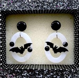 Image of Batty Dreadful Earrings - Raven Black