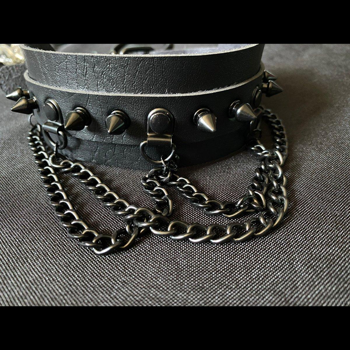 Image of Black Metal Chain Choker