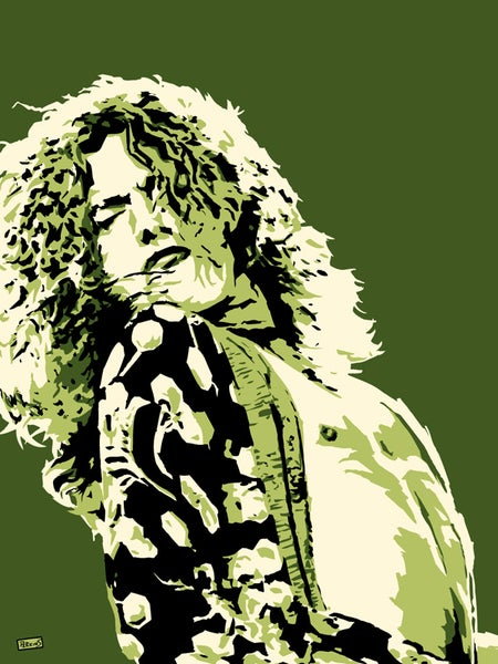 "Image of ""Perkins 77"" Art Print Series - 7702 Robert Plant"