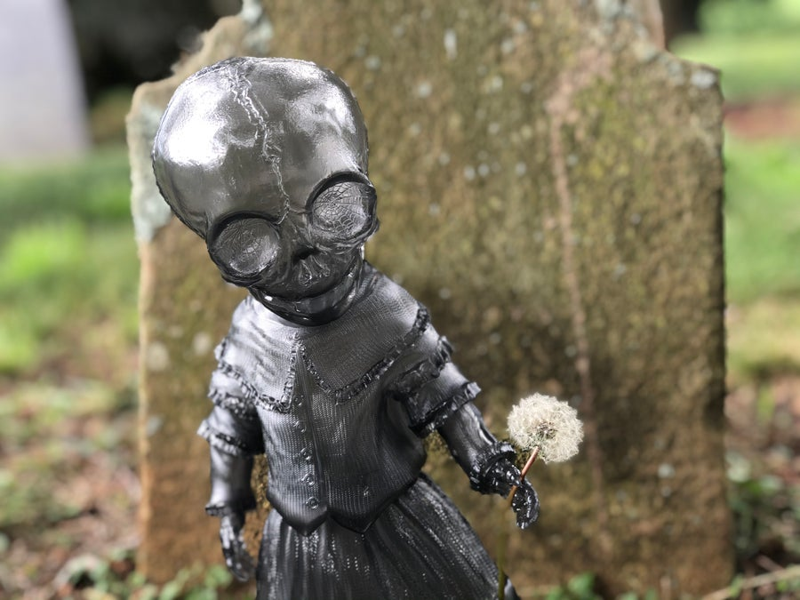 "Image of Ghost Gray Skellene 12"" Sofubi Figure"