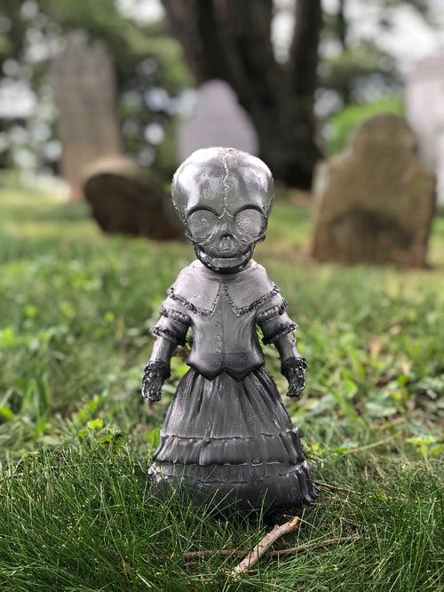 "Image of Ghost Gray Skellene 12"" Sofubi Figure"