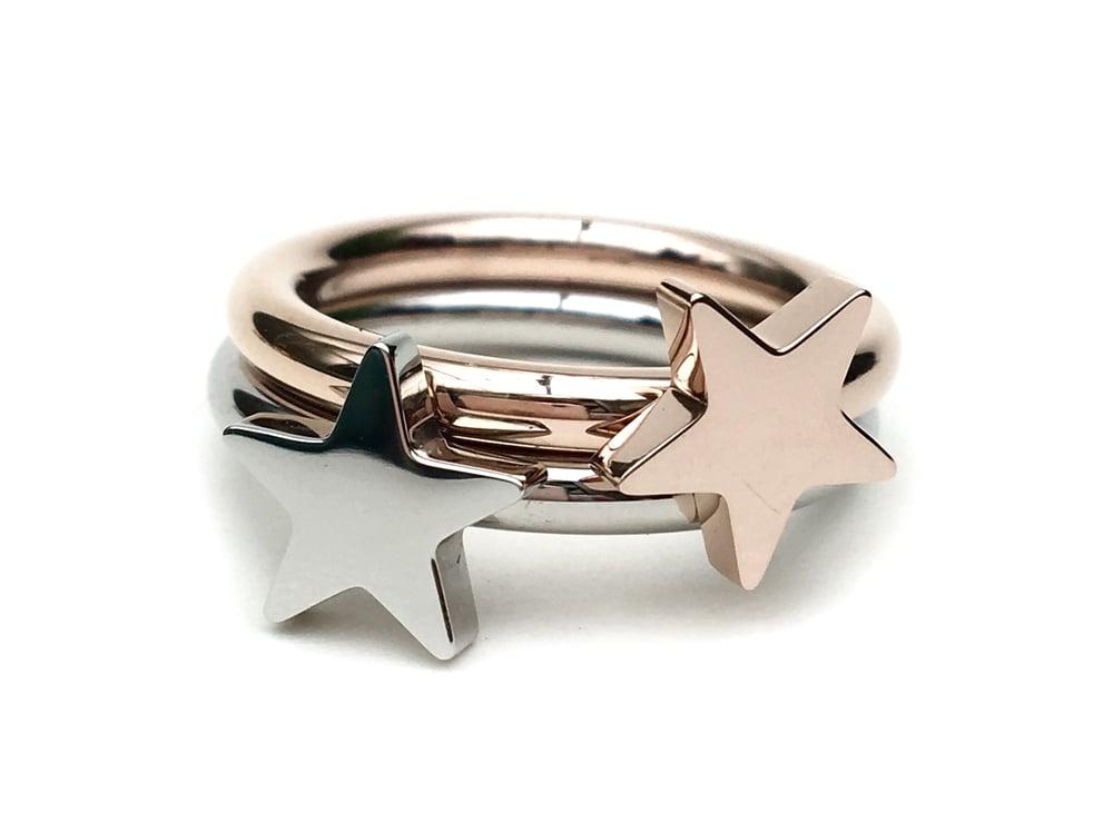 Image of Steckring Stern Shine