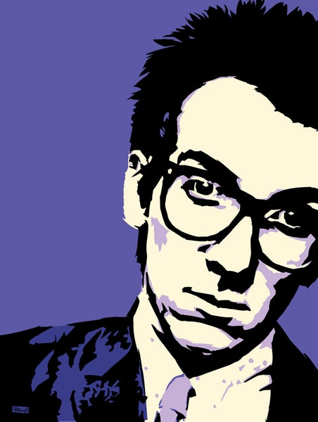 "Image of ""Perkins 77"" Art Print Series - 7705 Elvis Costello"