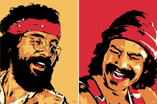 "Image of ""Perkins 77"" Art Print Series - 7715 & 7716 Cheech and Chong"