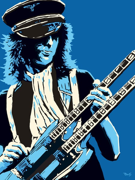 "Image of ""Perkins 77"" Art Print Series - 7725 Jimmy Page"