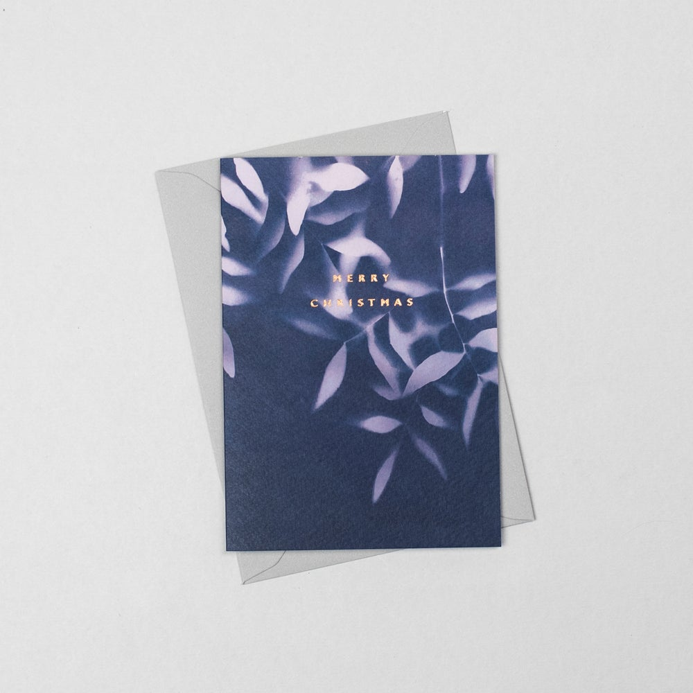 Image of Merry Christmas Cyanotype Olive