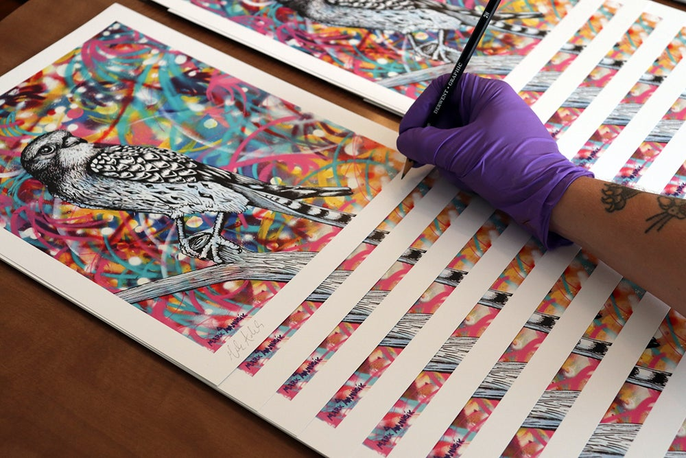 """Image of """"Unravel""""  Print"""