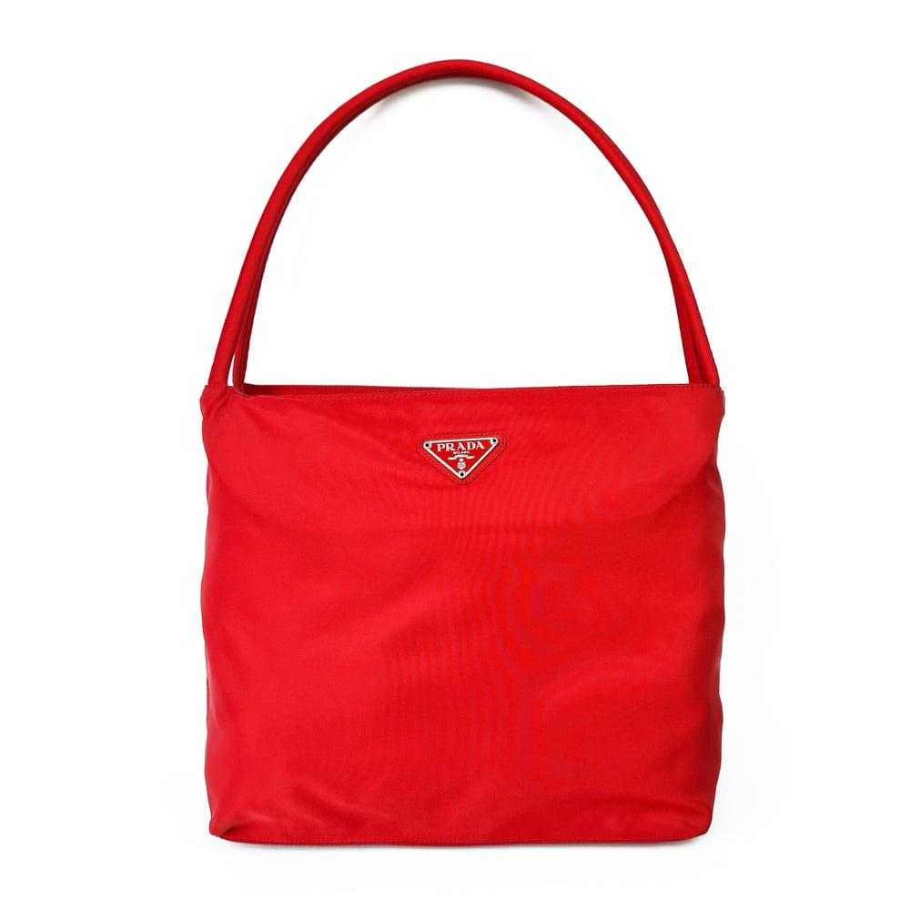 Image of Prada Tessuto Red Shoulder Bag