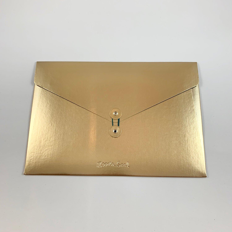 Image of Metallic Leather Folio