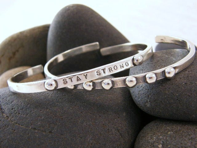 "Image of ""Stay Strong"" Sterling Bracelet"