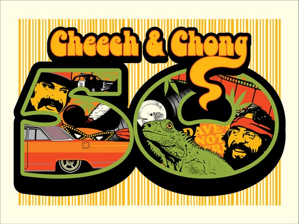 Image of Cheech & Chong 50th anniversary poster