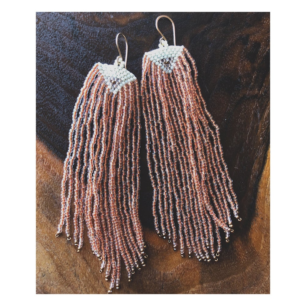 Image of Aria Earrings in Peaches and Cream
