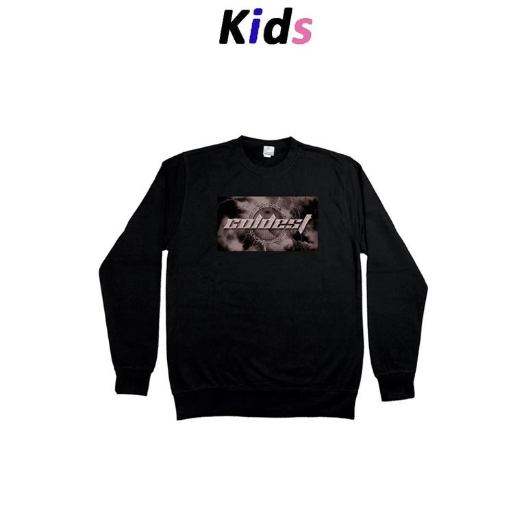 KIDS · BARBED WIRE GRAPHIC SWEATER