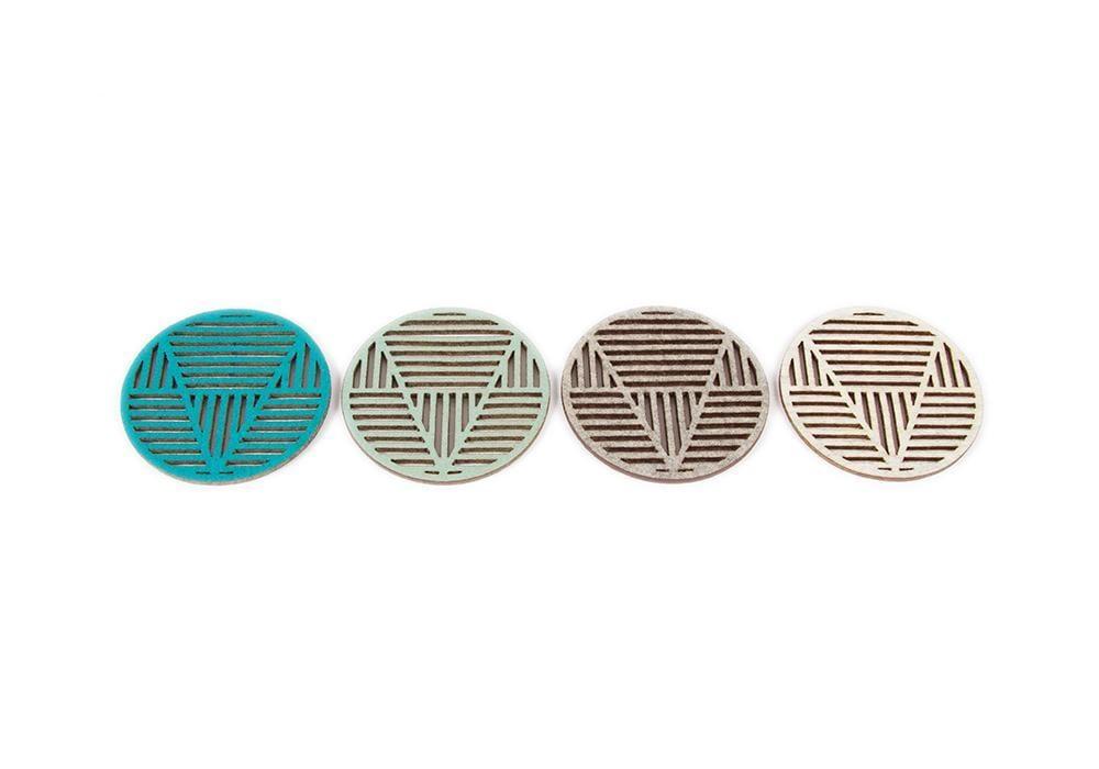 Image of Vee Coasters (felt)