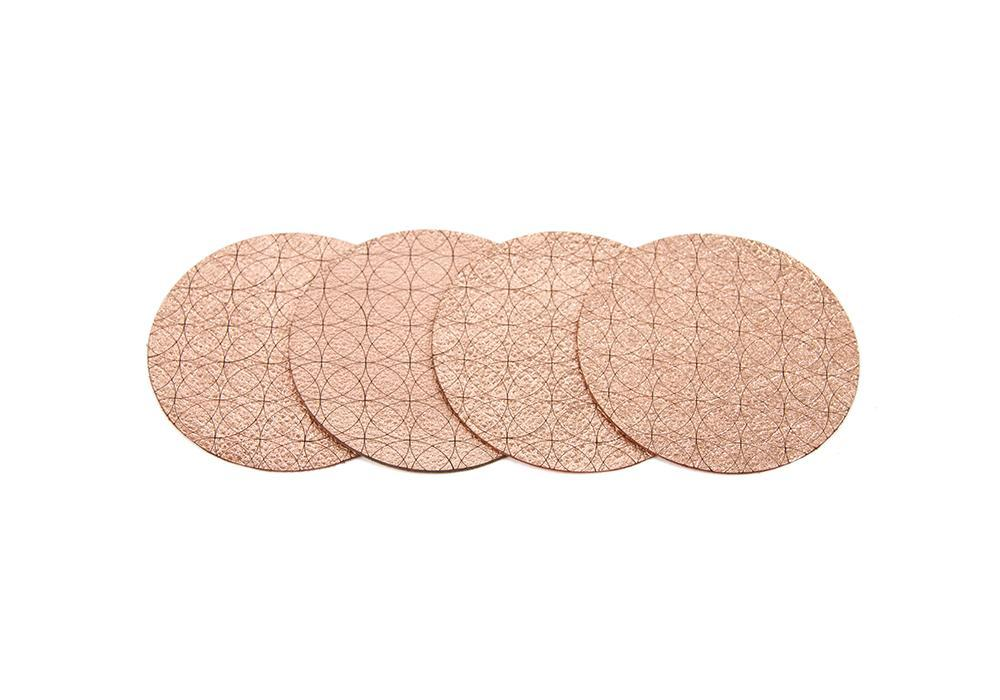 Image of Overlapping Coasters (leather)