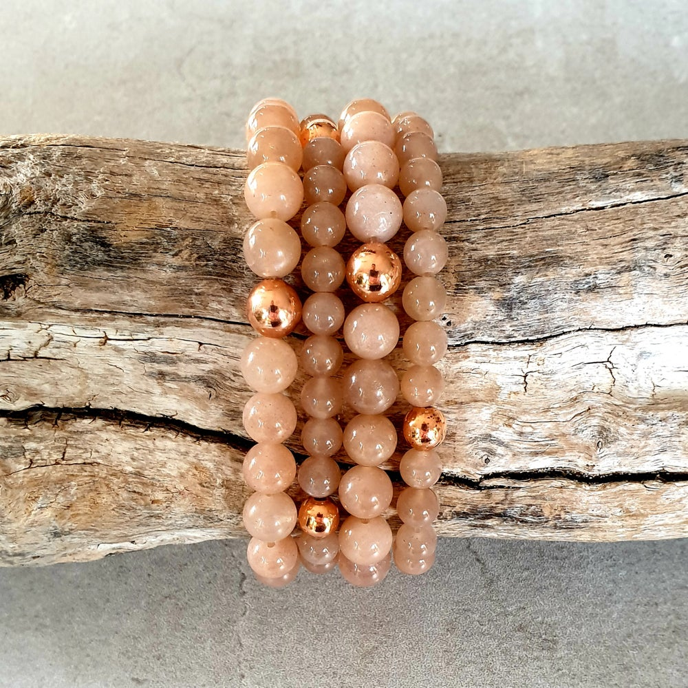 Image of SUNSTONE & COPPER BRACELET - 6mm & 8mm bead sizes