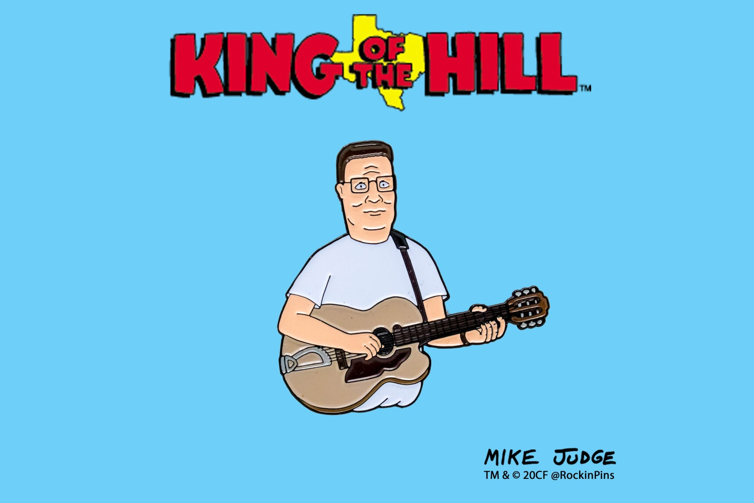Image of King of the Hill - Hank Hill with Guitar Enamel Pin