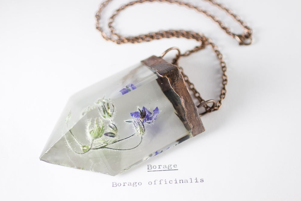 Image of Borage (Borago officinalis) - Chunky Copper Prism Statement Piece #2