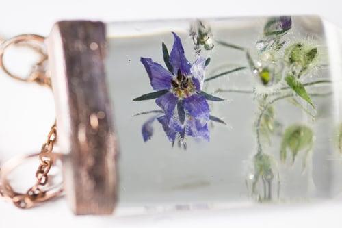 Image of Borage (Borago officinalis) - Chunky Copper Prism Statement Piece #2