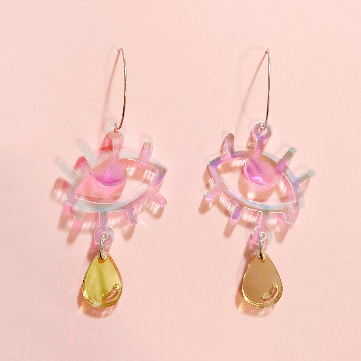 Image of Cry Baby Hoops (Holo/Gold)