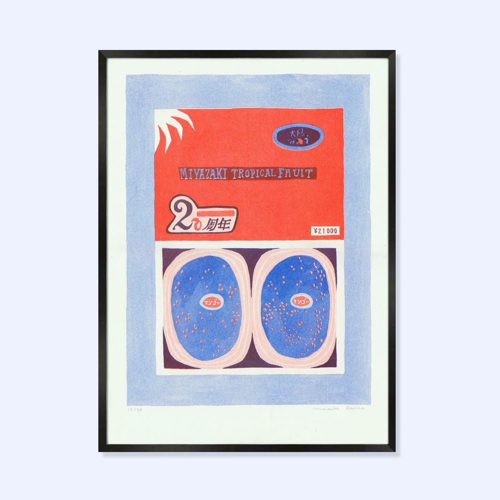 Image of 2 Color Risograph print 'Egg of the sun'
