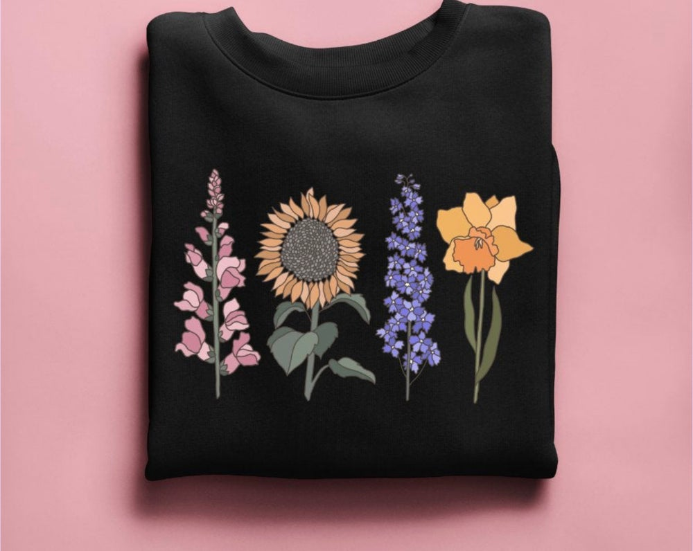 Image of No Rain No Flowers Botanical Shirt